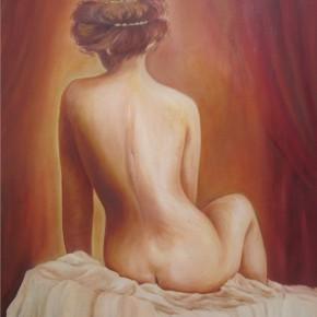 "BERTACCHI FRENCIA, Yolanda - ""Al desnudo"" - Óleo stela - 80 x 70cm."