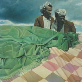 "GERVASONI, Luis - ""¿Dónde duermes Palestina"" - Acrílico stela - 120 x 120cm."