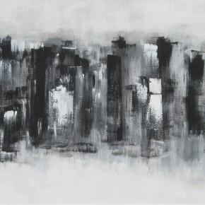 """GILLI FAUDÍN, Renata - """"Piano abstracto"""" - Técnica mixta – 100 x 50cm."""